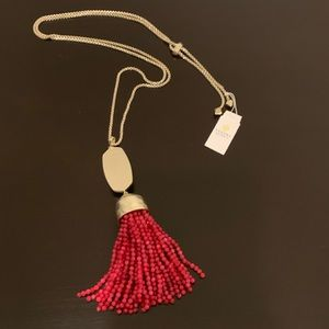 Kendra Scott Monroe Red Gold Necklace